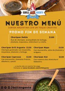 Grill Argento - Comida Argentina en Merida Yucata - Menú digital