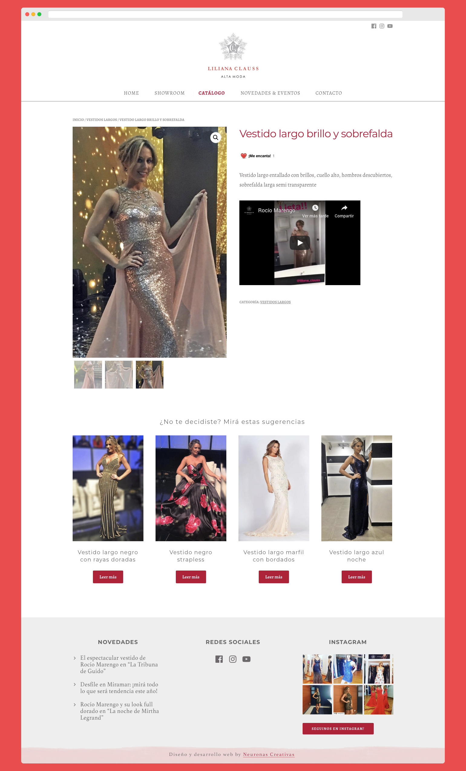 Portfolio Neuronas Creativas » Liliana Clauss - Web: Producto